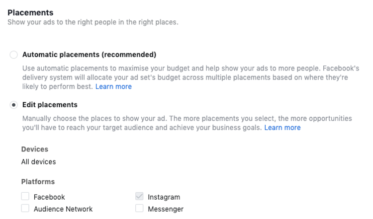 how to set up ads on instagram