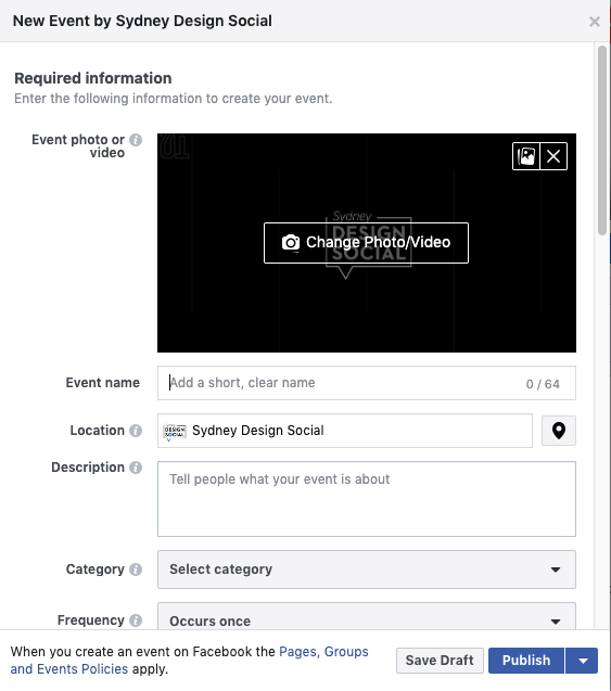 how to set up a facebook event