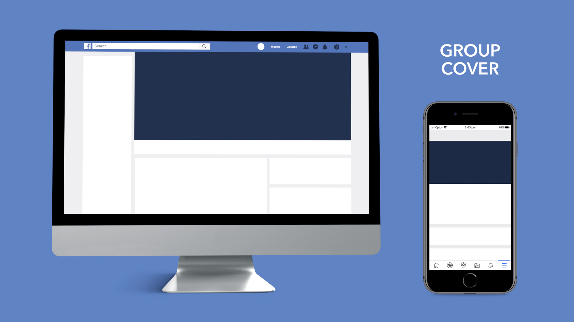 Facebook group cover image dimensions for desktop and mobile