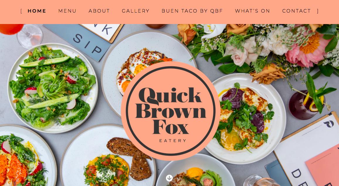 Cafe in Pyrmont website design