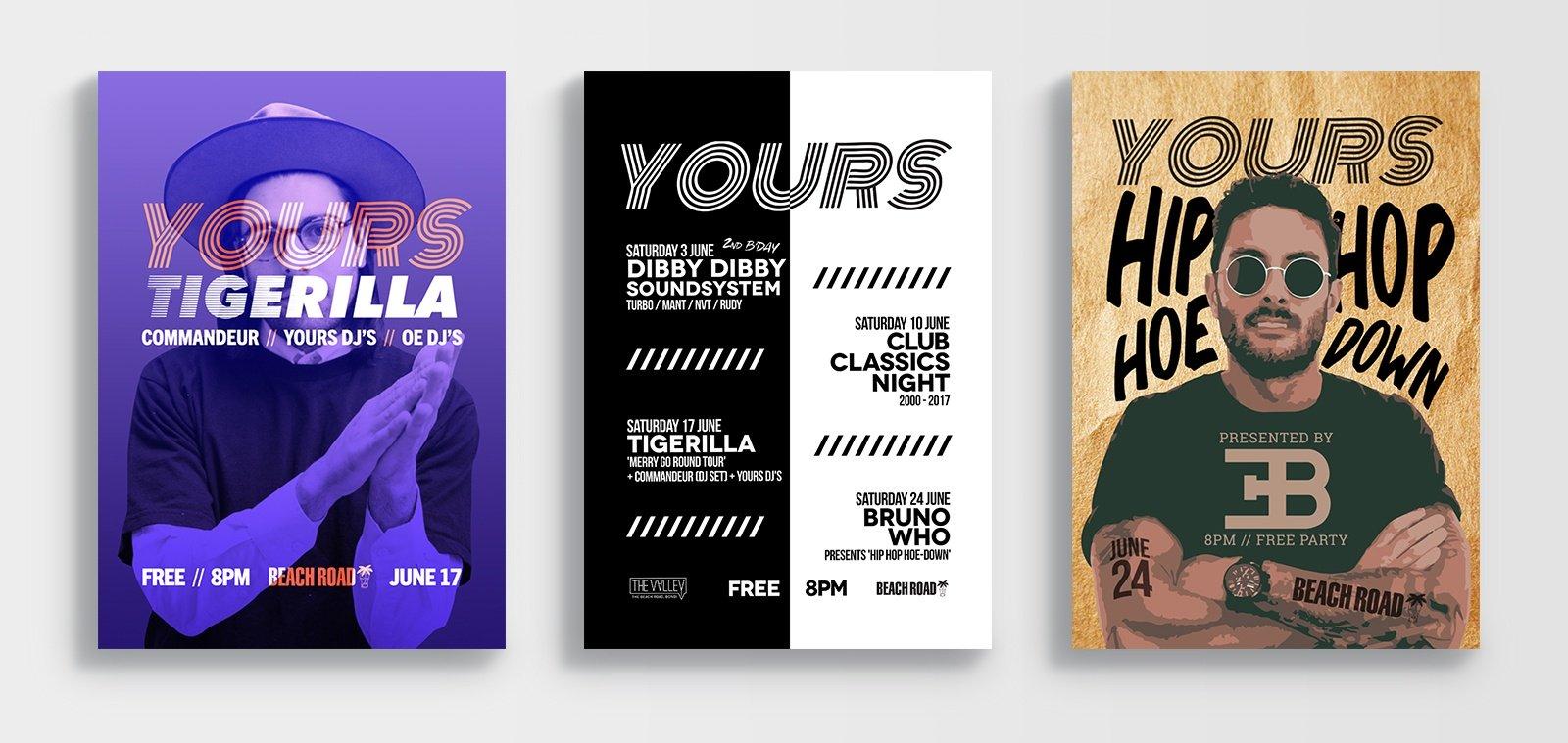 Event posters designed by Sydney Design Social