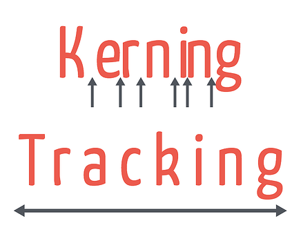 Kerning vs tracking in typography