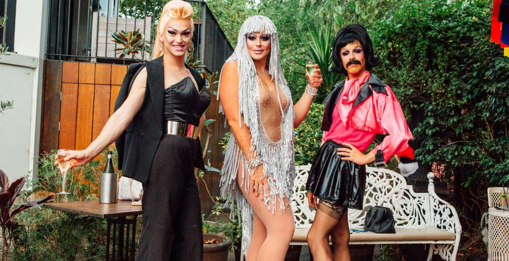 Drag queens at The Winery Surry Hills for Mardi Gras