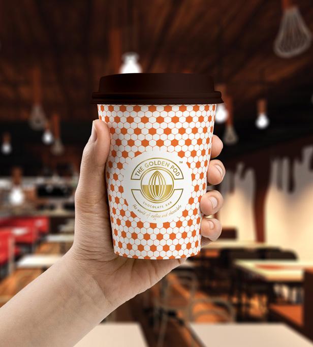 takeaway coffee cup packaging design