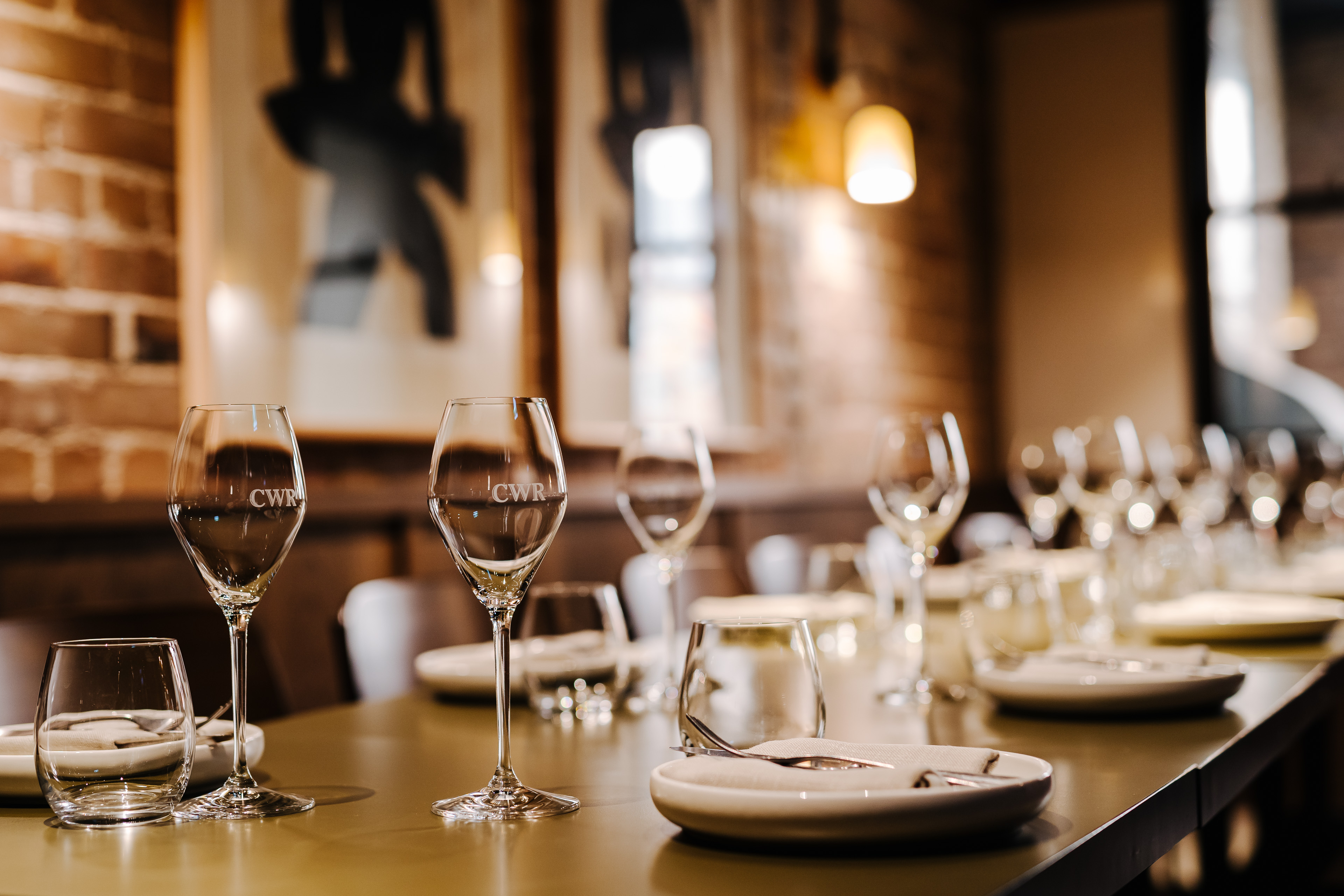 coogee wine room logo branding glassware