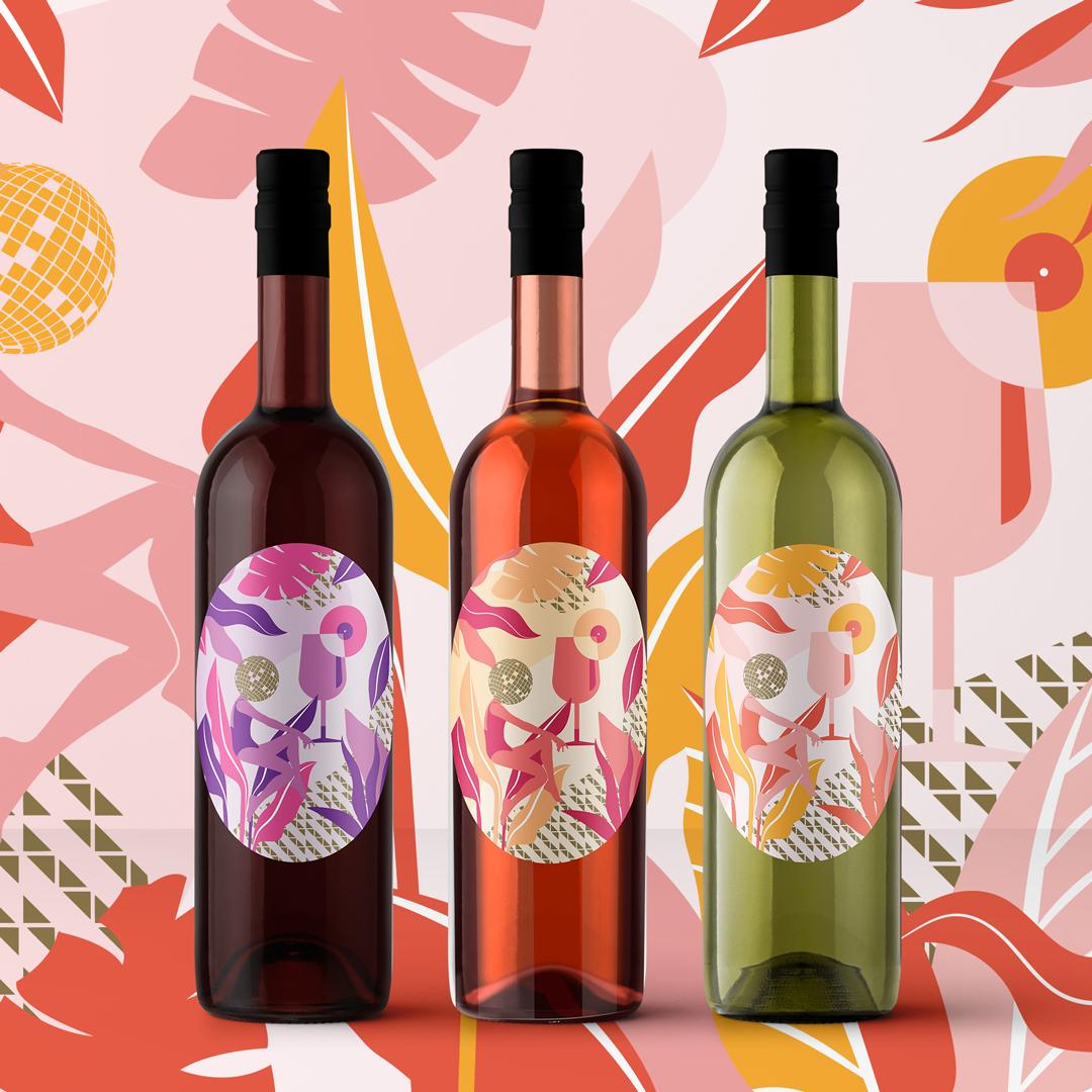 Package design wine label