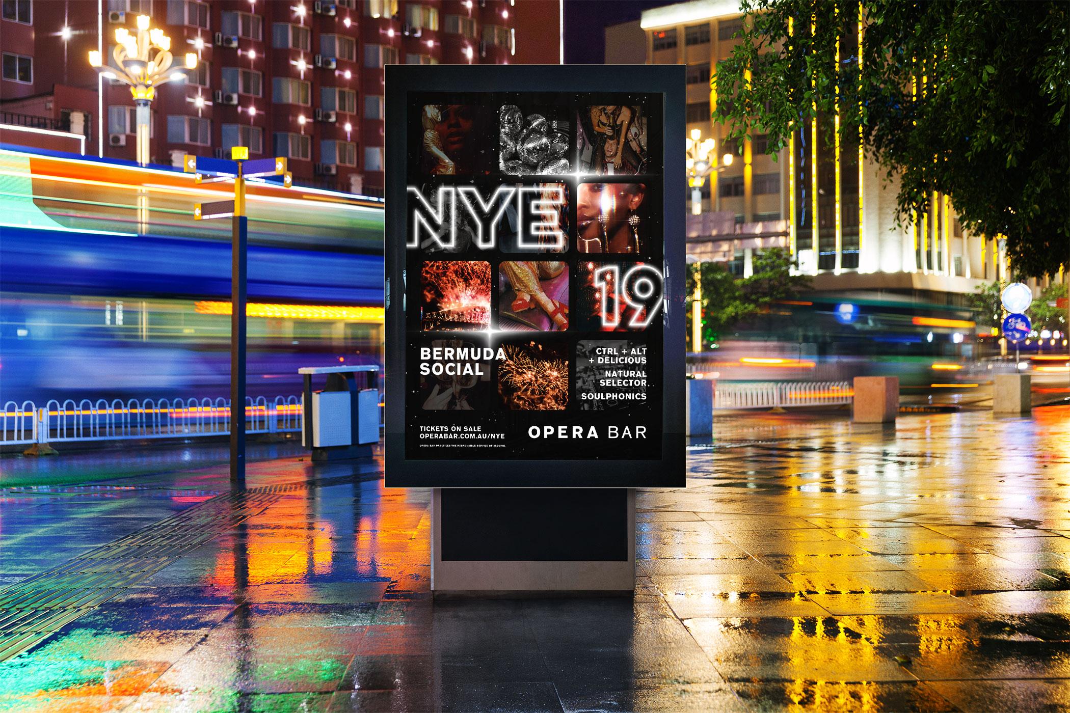 opera bar nye poster design by Distil