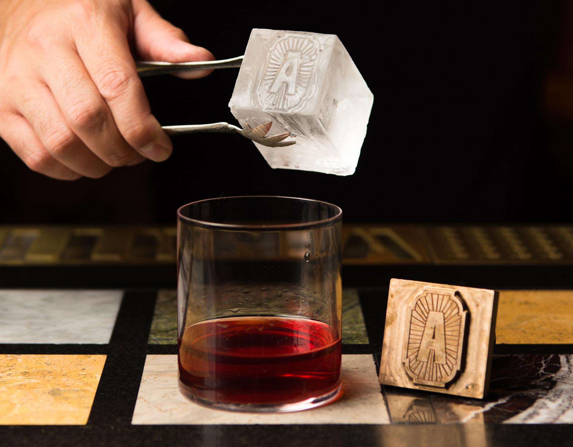 Distil Apollonia ice cube design