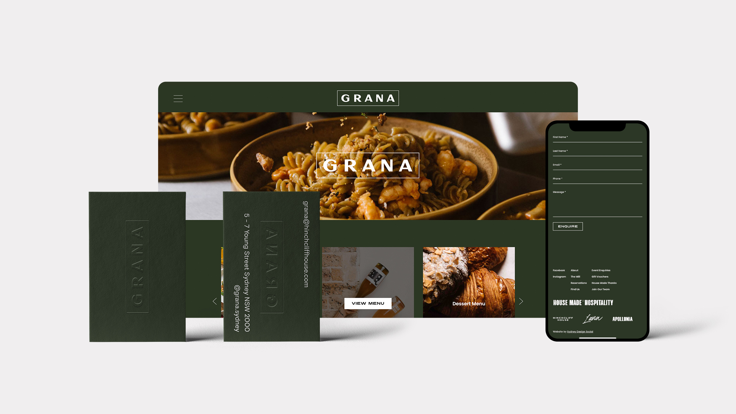 Distil mock up for Grana
