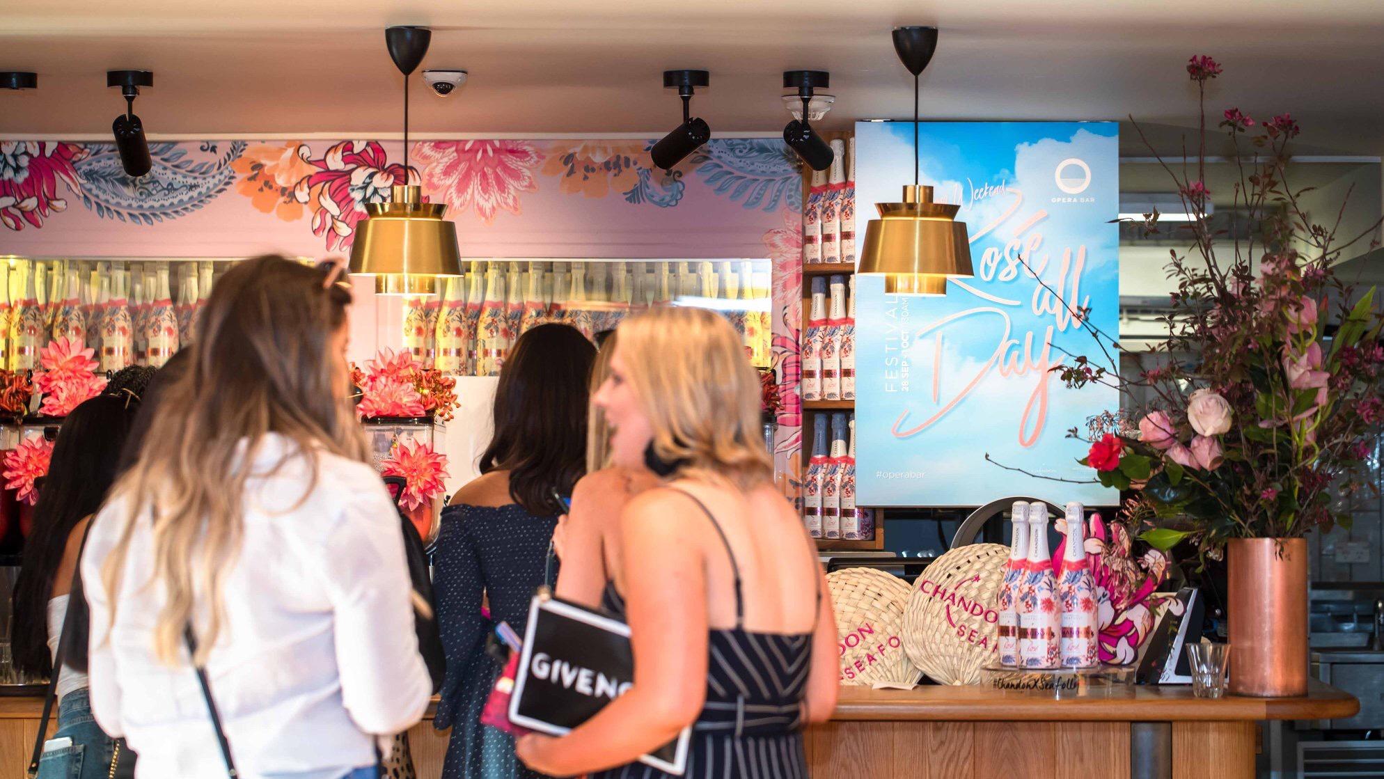 poster design opera bar rose all day festival