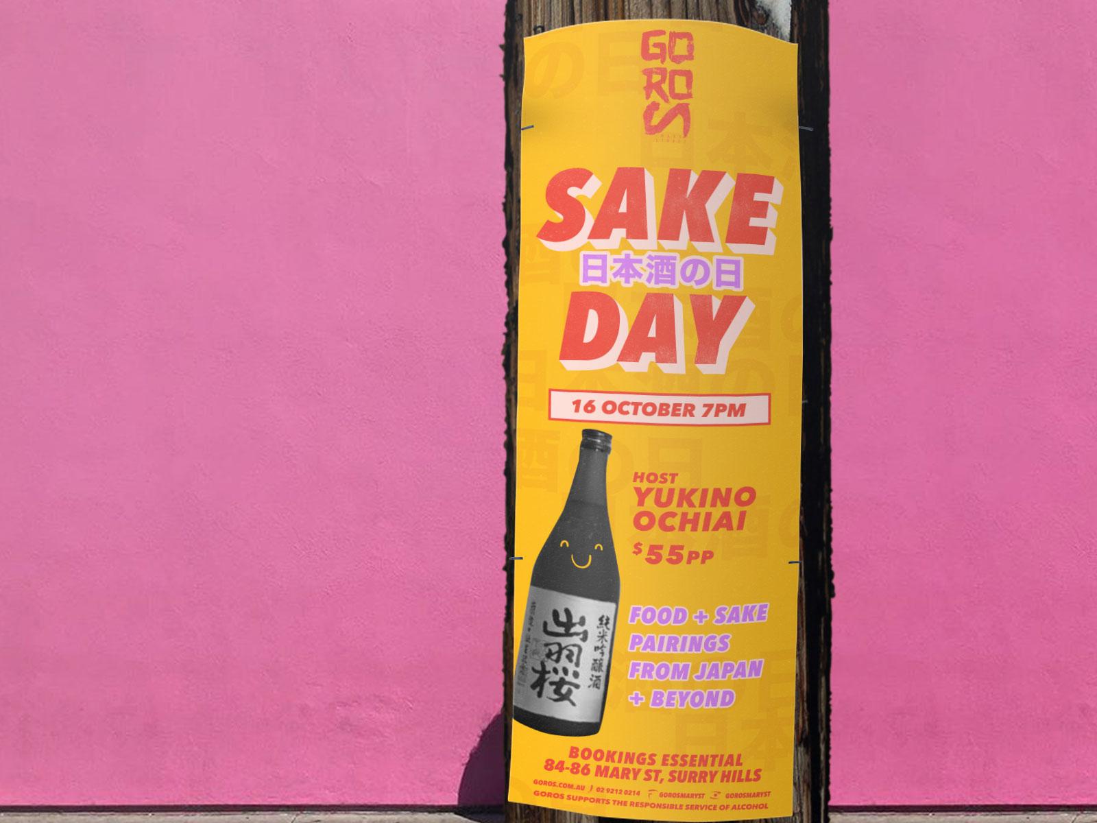 Distil pole poster design for goros in sydney
